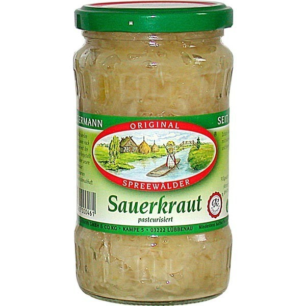 kr germanns original spreew lder sauerkraut 370 ml glas. Black Bedroom Furniture Sets. Home Design Ideas